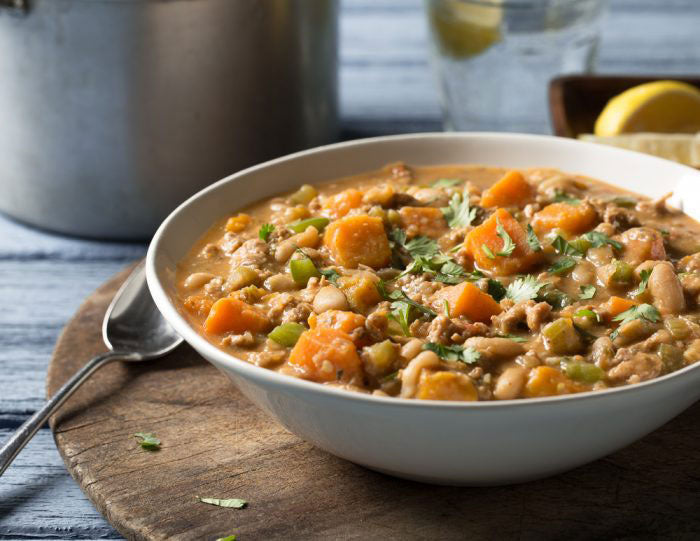 Sweet Potato and White Bean Chicken Chili