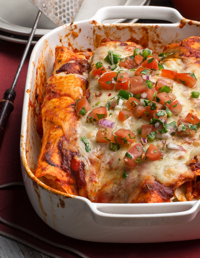 Cheesy Chicken Enchiladas with Fresh Salsa