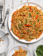 Chicken Noodle Salad with Spicy Peanut Sauce
