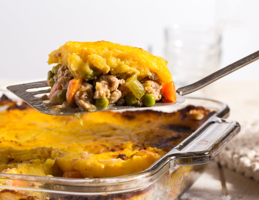 Chicken Cottage Pie with Roasted Pumpkin