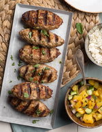 Grilled Chicken Kofta with Pineapple Salsa