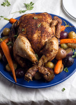 "Sweet and Spicy Slow Cooker ""Rotisserie"" Chicken"