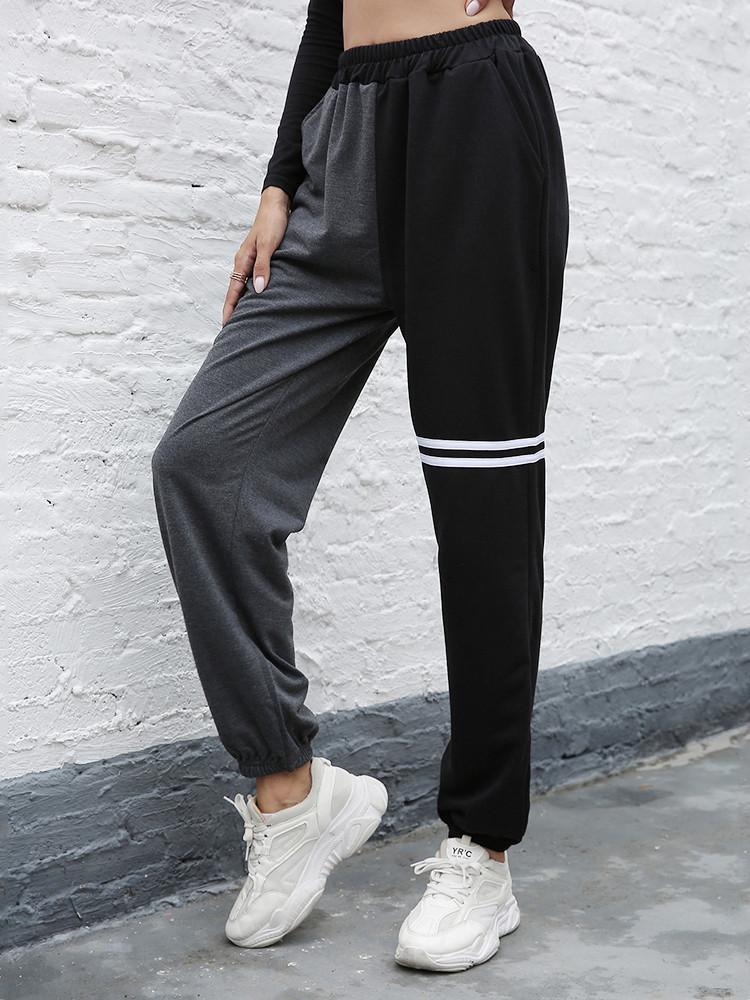 Loose-Trousers-Contrast-Stitching-Harem-Pants
