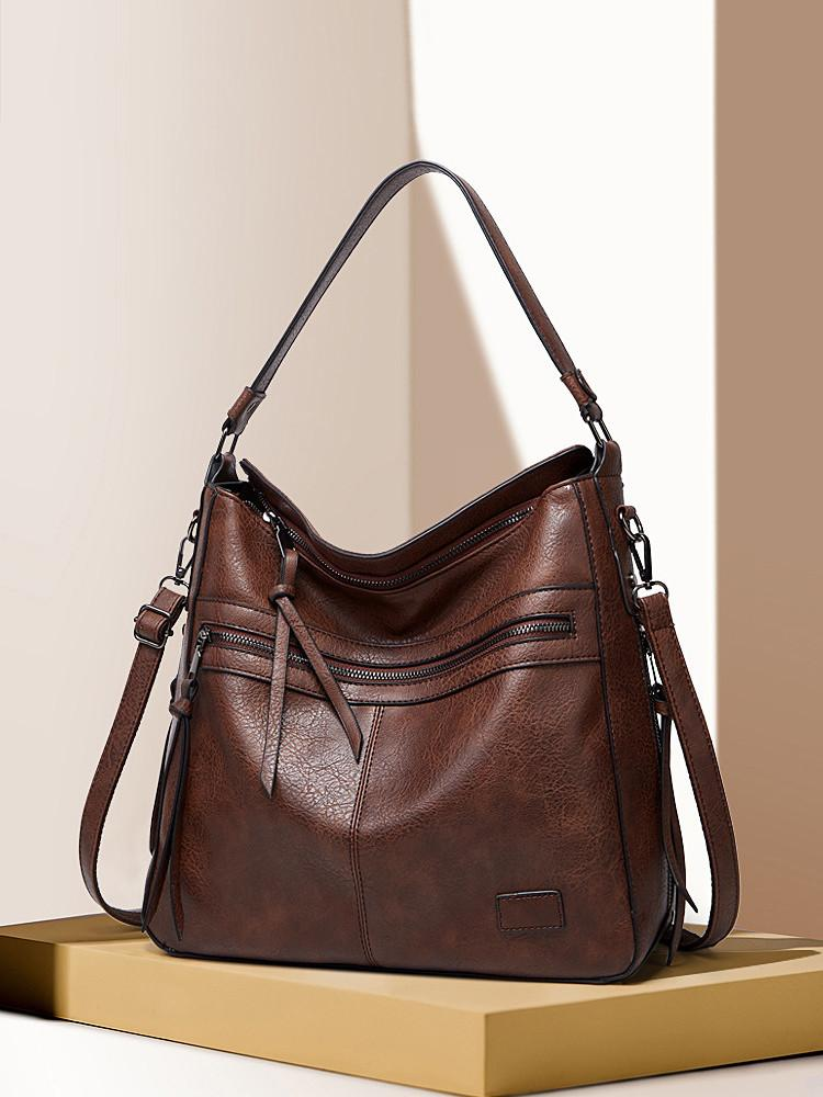 PU-Shoulder-Handbag-Zipper-Retro-Bag