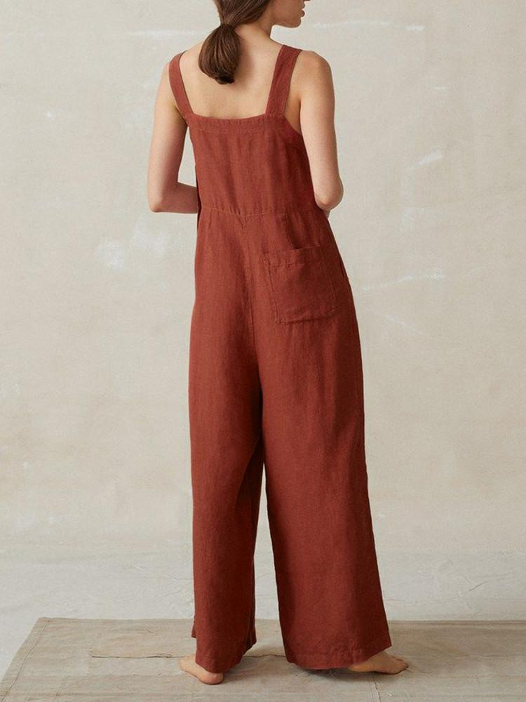 Solid-Strappy-Button-Side-Wide-Leg-Jumpsuit