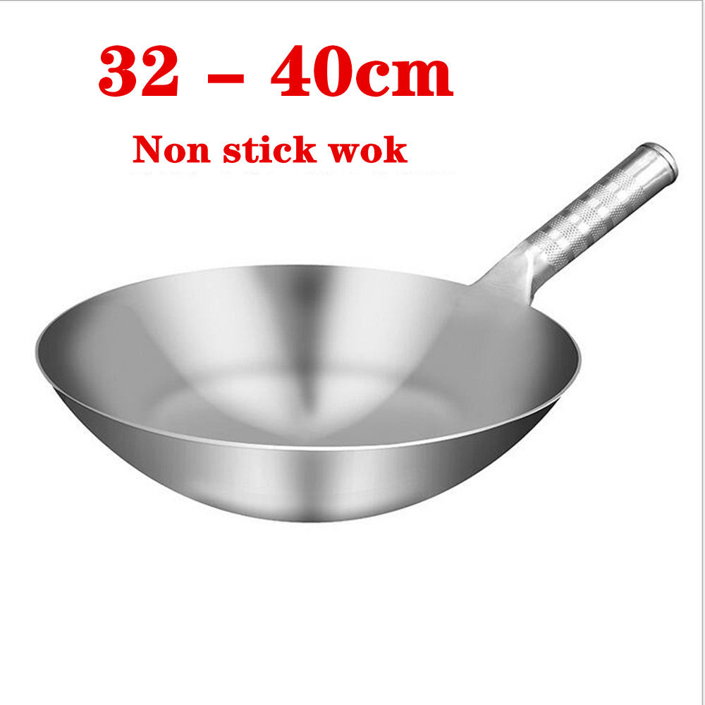 stainless steel 1.8mm thick high quality Chinese Handmade Wok Traditional Non stick rusting Gas wok Cooker pan cooking pot /6