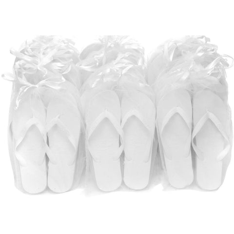 pack de luxe de tongs blanches