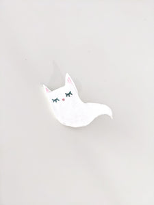 Ghost Kitty Pin