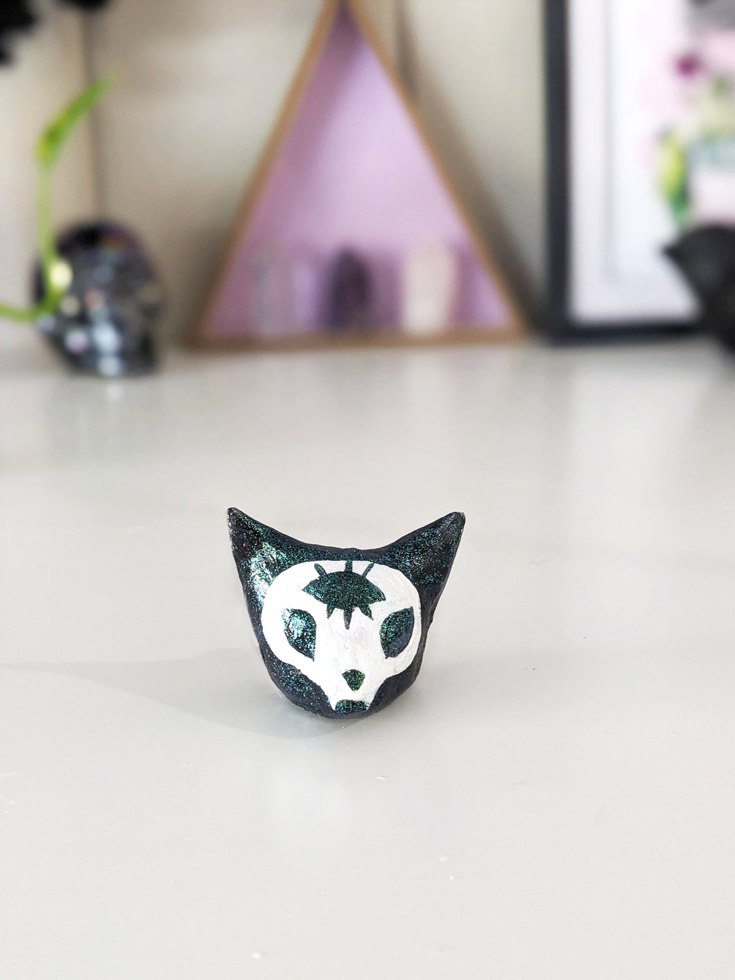 Third Eye Cat Skull - Figurine