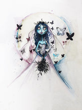 Load image into Gallery viewer, Watercolor Corpse Bride - Print