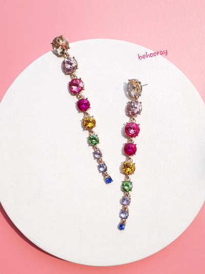 A Real Sparkle Drop Earrings In Multi