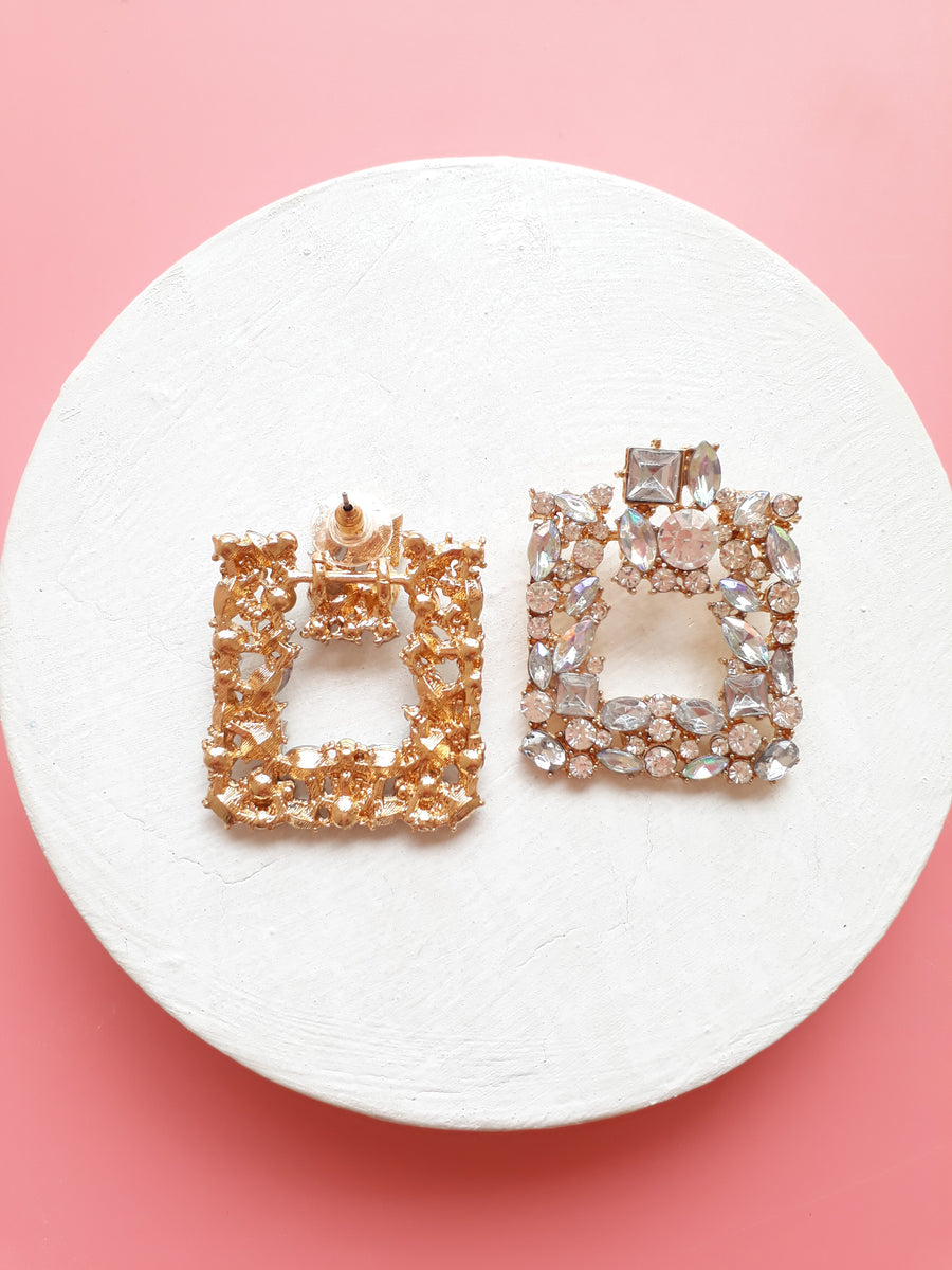 A Real Sparkle Earrings In Square