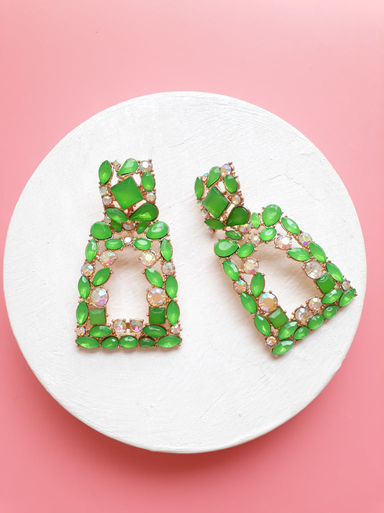 A Real Sparkle Earrings In Green