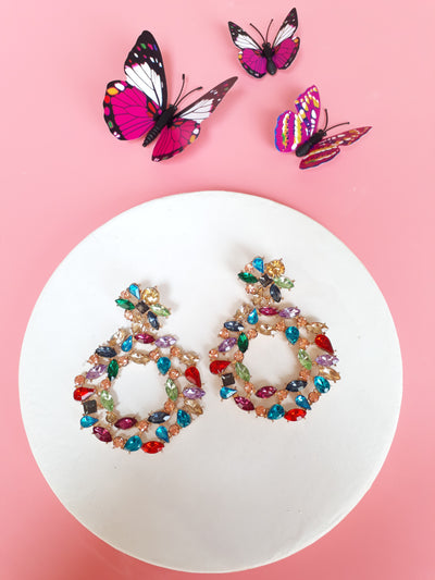 A Chunky Bite Earrings In Light Multi