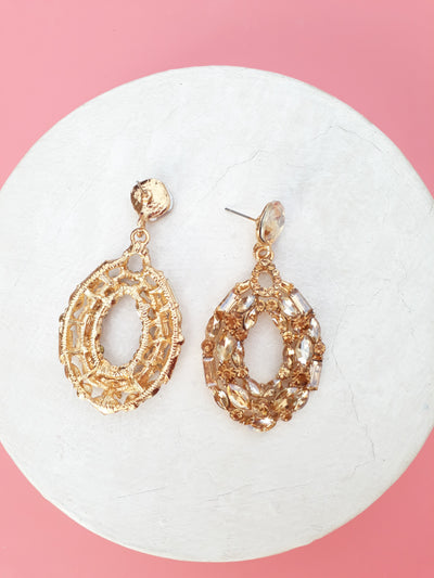 A Moment  Up Earrings In Golden