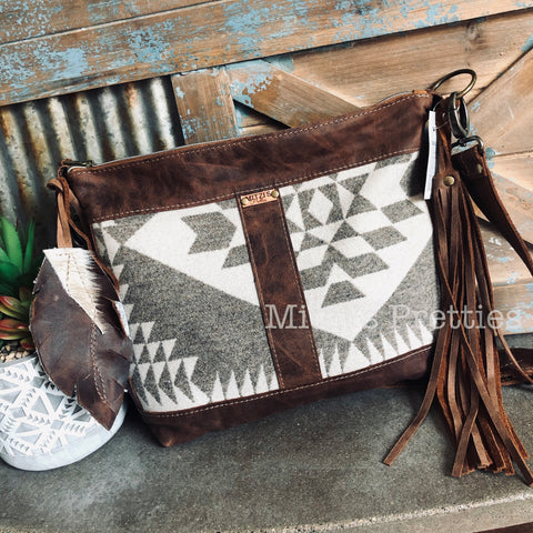 MADE TO ORDER Pendleton & Leather Crossbody Bag