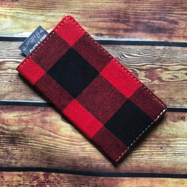 SHIPS TODAY Buffalo Plaid Checkbook Cover