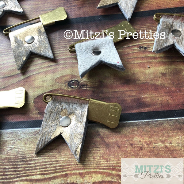 SHIPS TODAY Vintage Military Pins w/ Cowhide