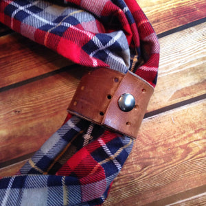 Genuine Leather Scarf Cuff