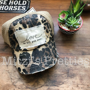 """Love is all you need"" Patched Trucker Hat"
