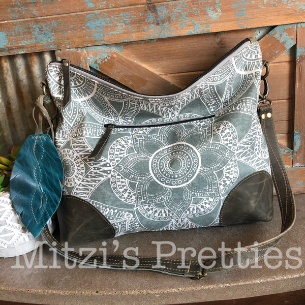 MADE TO ORDER Slouchy Hobo w/ Leather, Feather & Crossbody Strap