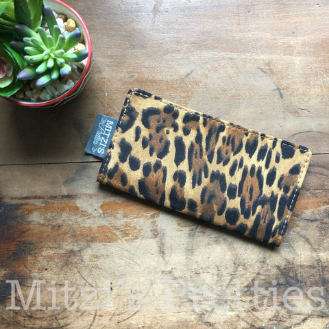 MADE TO ORDER\\\ Checkbook Cover in Leopard Fabric
