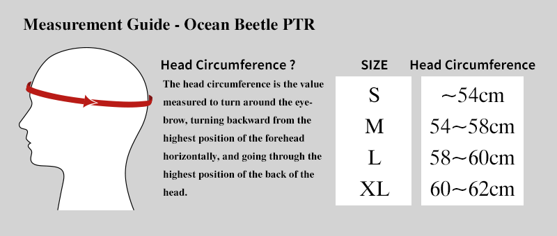 Measurement guide ocean beetle PTR
