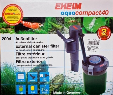EHEIM Aquacompact 40 External Filter For Nano Tank