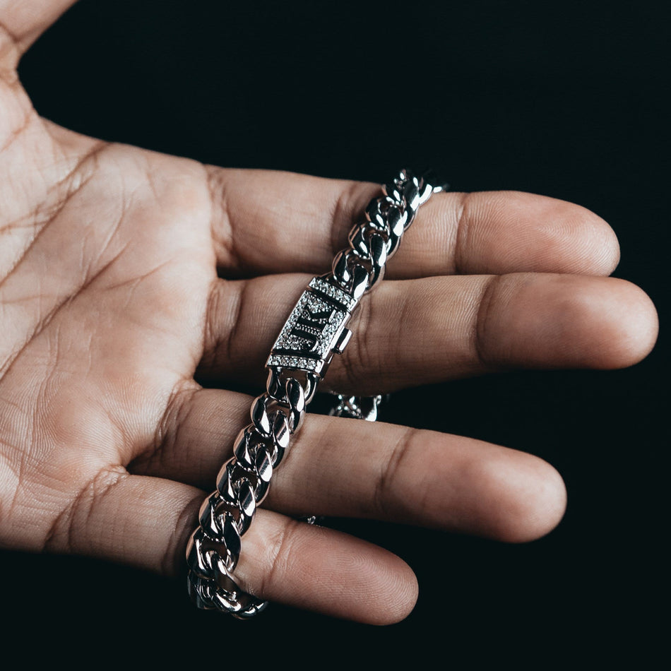 10mm Premium White Gold Miami Cuban Bracelet