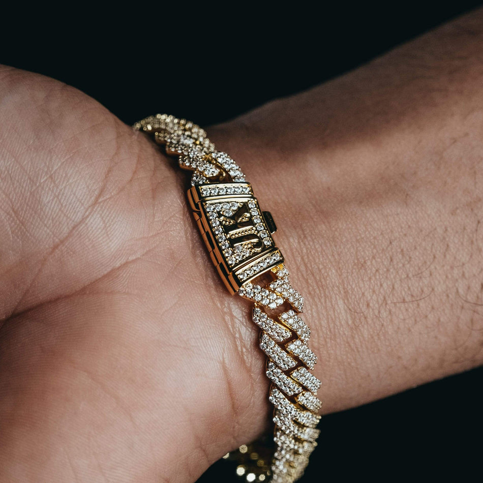 10mm Flooded Gold Cuban Bracelet