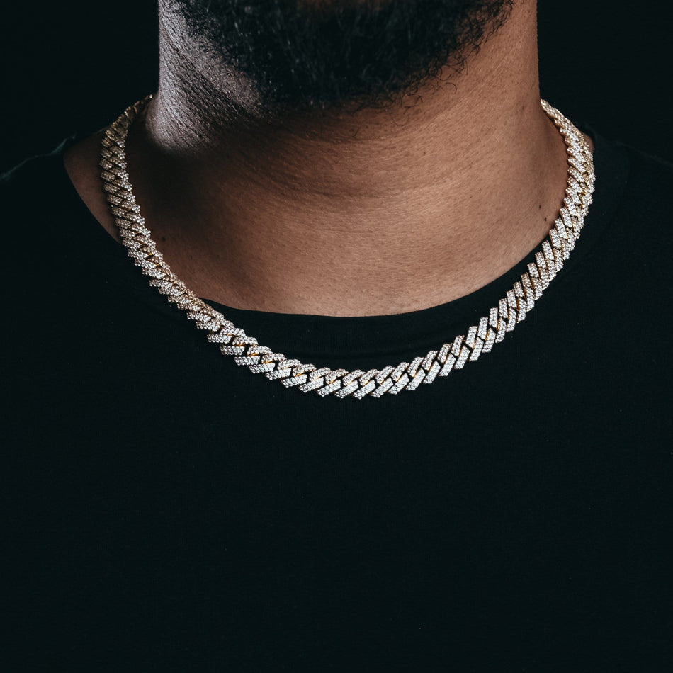 10mm Flooded Gold Cuban Chain