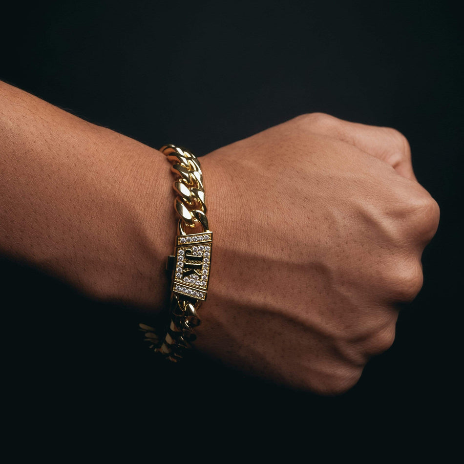 12mm Premium Gold Miami Cuban Bracelet