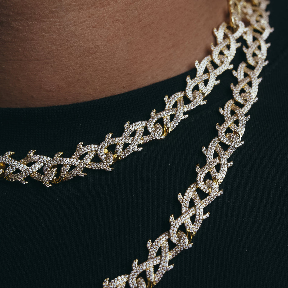 12mm Gold Thorn Chain