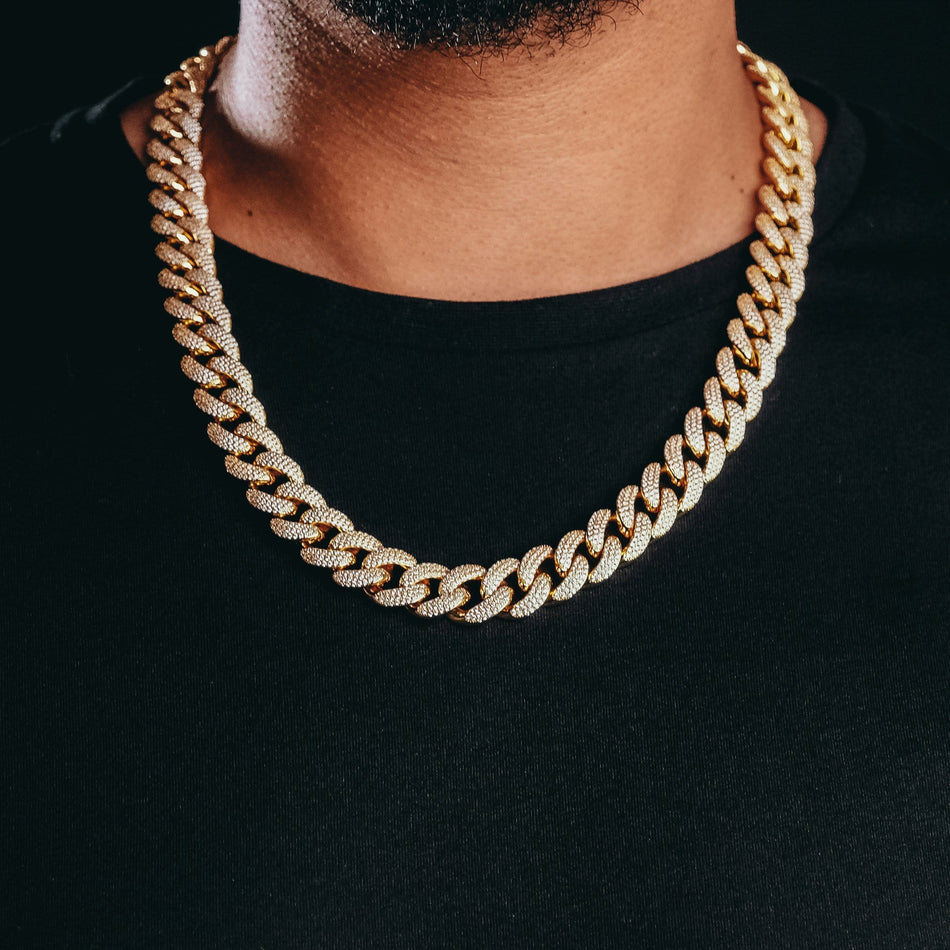 16MM Premium Iced Out Gold Miami Cuban Chain