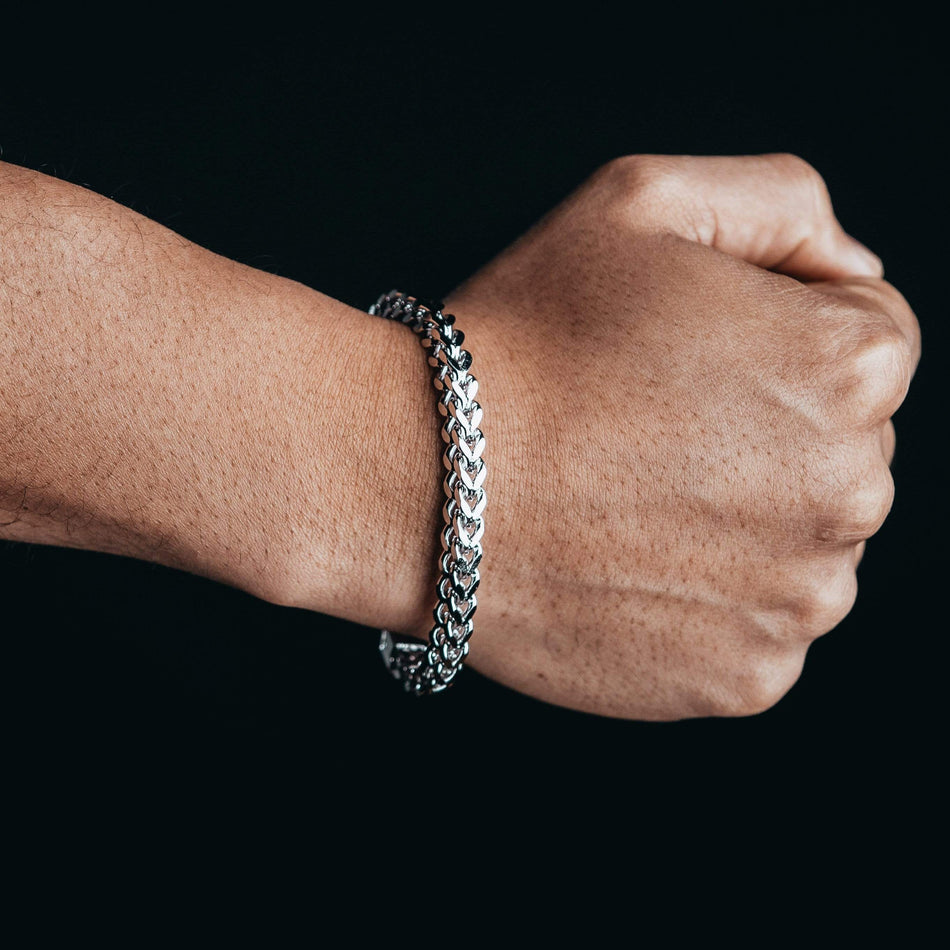 6MM White Gold Franco Bracelet