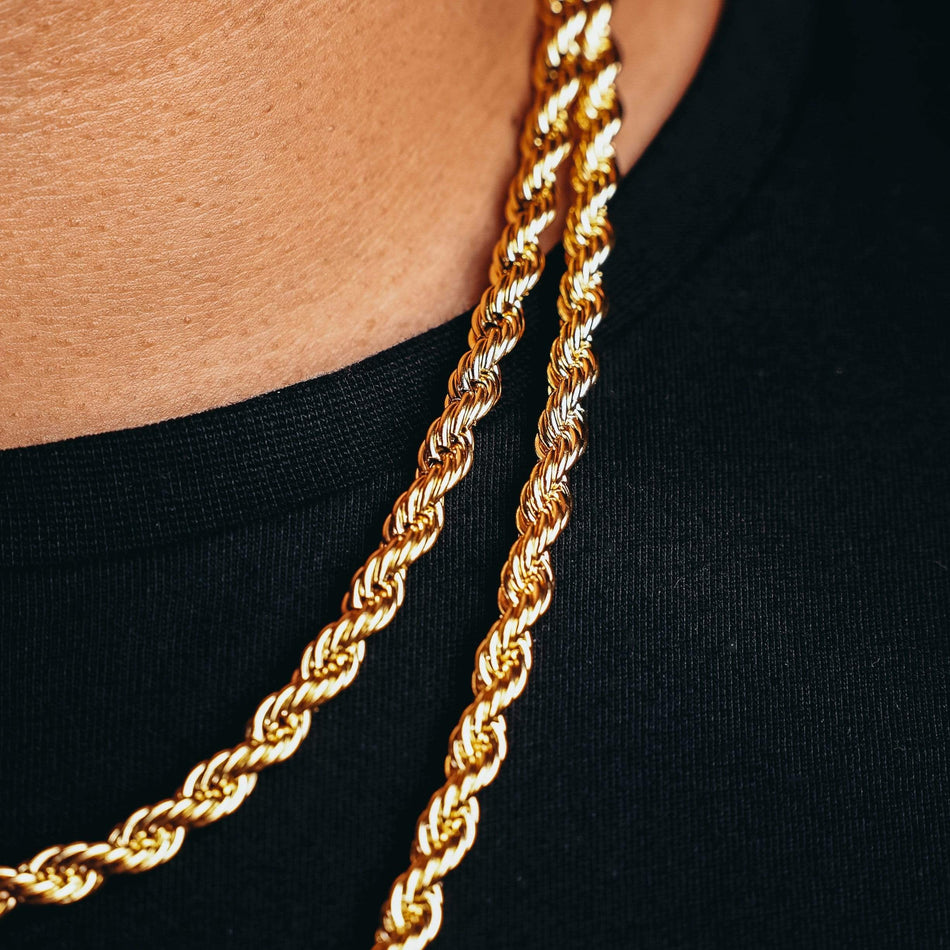 6mm Gold Rope Chain
