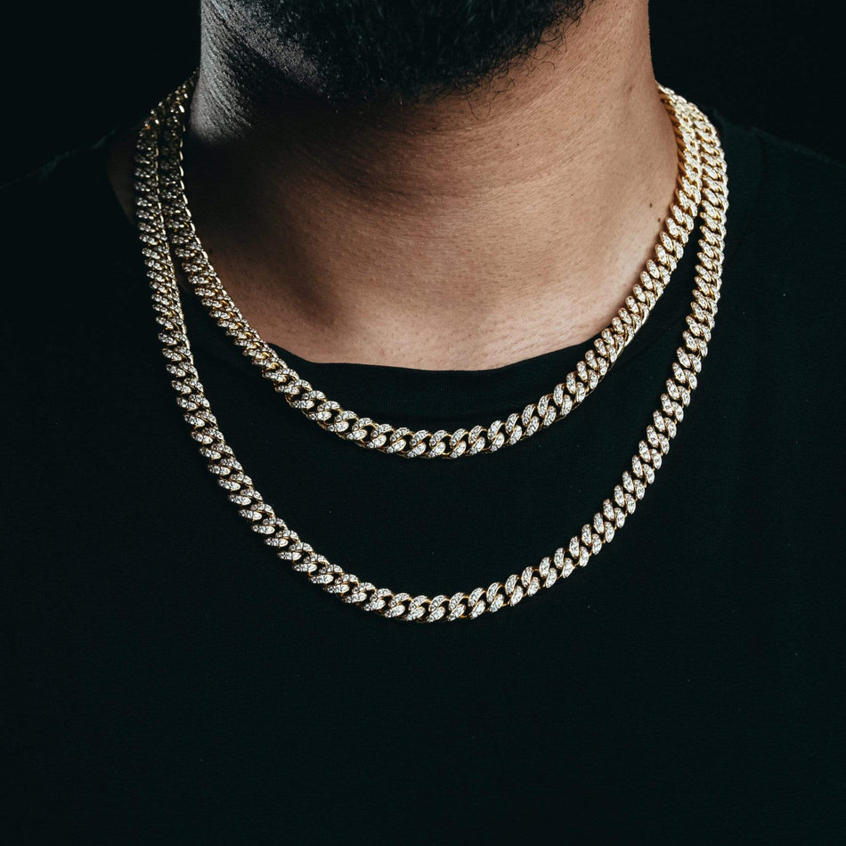 8MM Premium Iced Out Gold Miami Cuban Chain