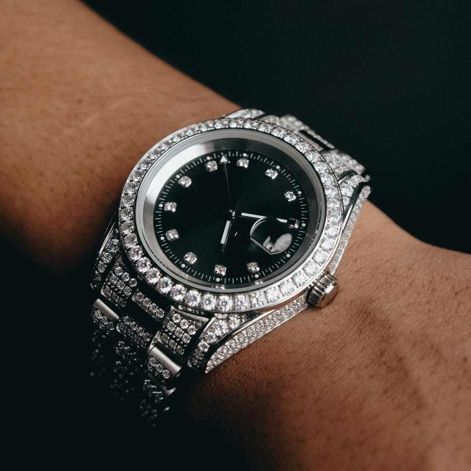 CZ Imperial Crown (Black Dial) Watch