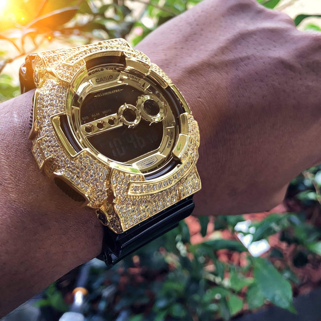 Gold Iced Out G Shock GD-100
