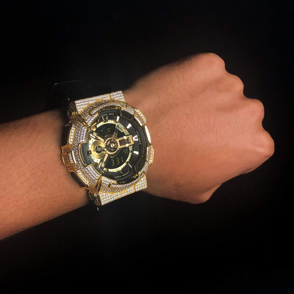 Gold Iced Out GA-110 Watch