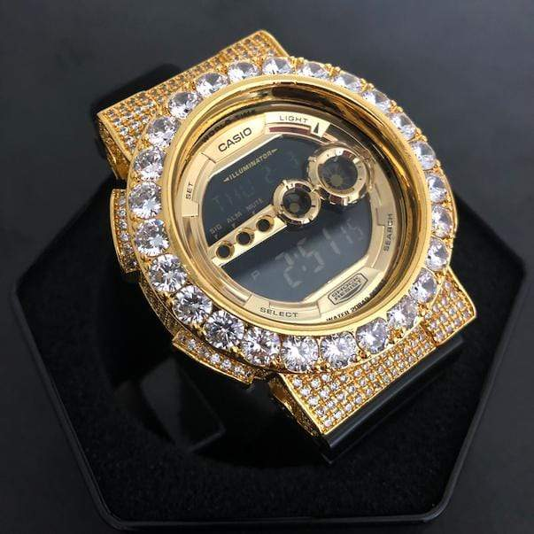 Custom Gold Iced Out GD-100 Watch