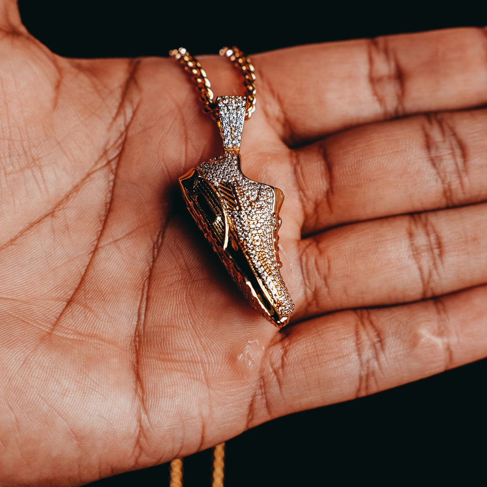Gold Air Max 90 Shoe Pendant