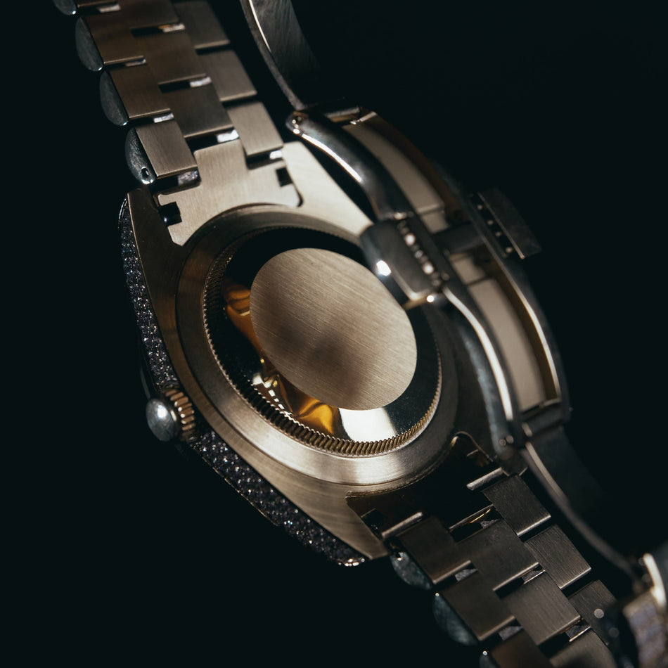 Gold CZ Imperial Crown (Black Dial) Watch