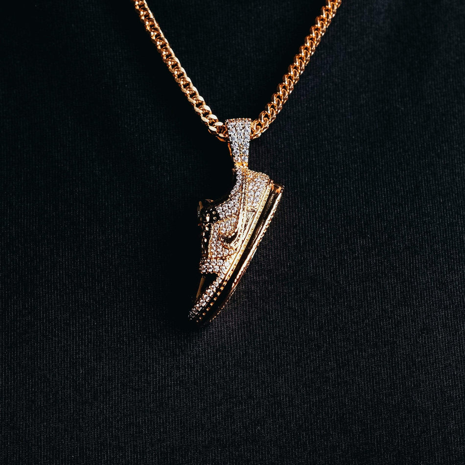 Gold SB Dunk Shoe Pendant