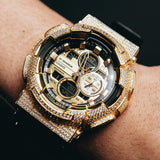 Gold Iced Out GA140GB-1A1 Watch