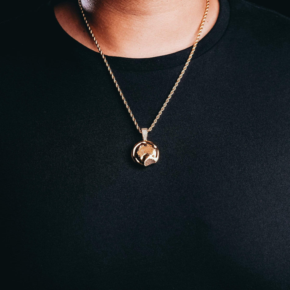 Gold Aussie Meat Pie Pendant