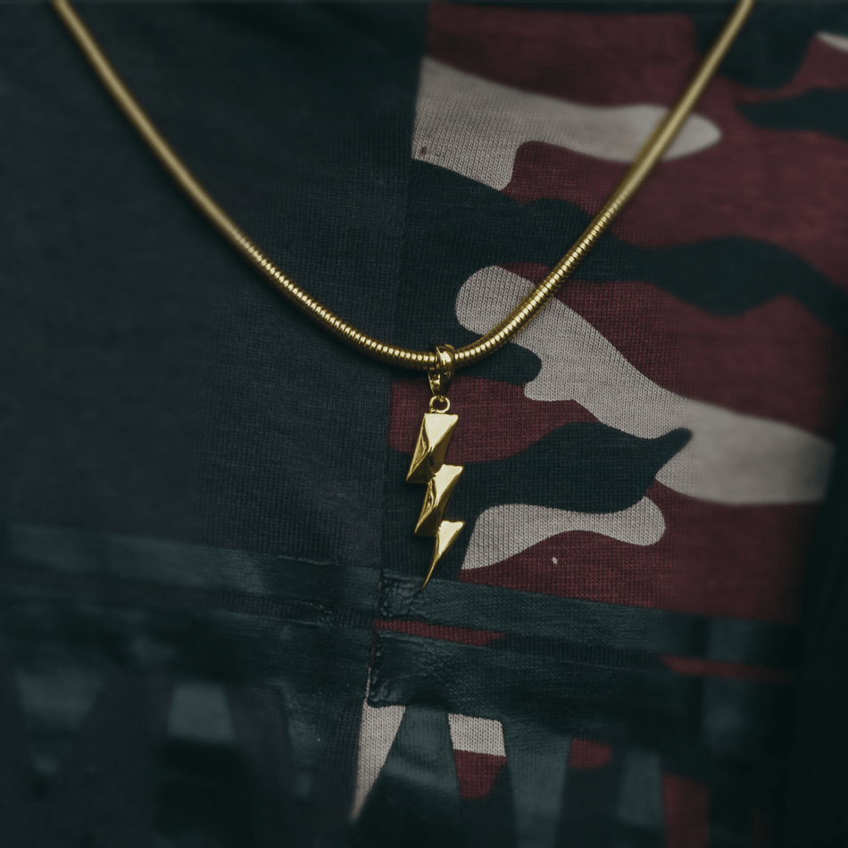 Gold Bolt Pendant