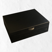 Black Wood Grain 8 Slot Watch Case