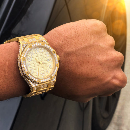 Gold CZ Chairman Watch
