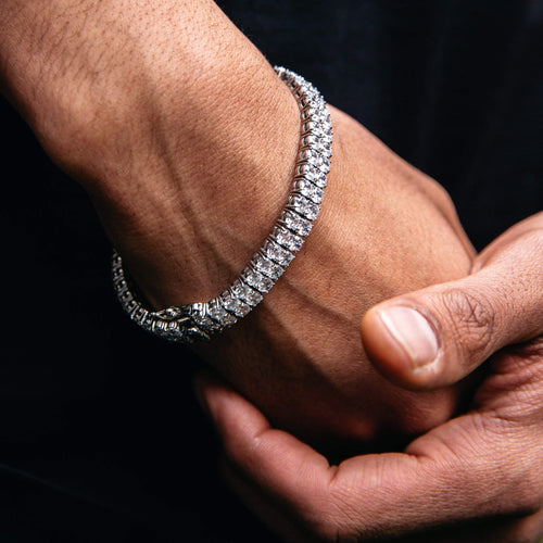 White Gold 2 Row Tennis Bracelet